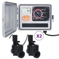 vidaXL Hagevanningsregulator med 4 magnetventiler