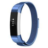 Milanese Loop armbånd kompatibel med Fitbit Alta HR - Blå