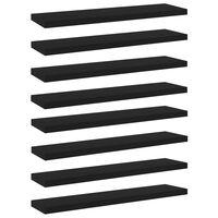 vidaXL Hylleplater 8 stk svart 40x10x1,5 cm sponplate