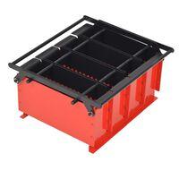 vidaXL Papirbrikettpresse stål 38x31x18 cm svart og rød