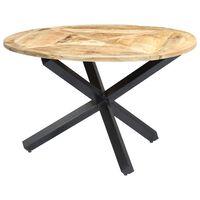 vidaXL Spisebord rundt 120x76 cm heltre mango