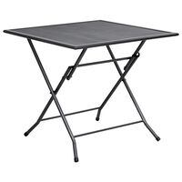 vidaXL Sammenleggbart bord netting 80x80x72 cm stål antrasitt