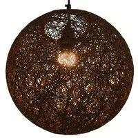 vidaXL Hengelampe brun sfærisk 35 cm E27