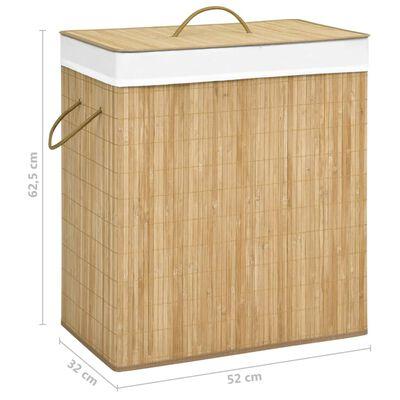 vidaXL Skittentøyskurv bambus 100 L