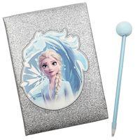 Frozen 2, Glitrende Dagbok med Pom Pom-penn