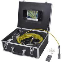 vidaXL Rørinspeksjonskamera 30 m med DVR kontrollboks