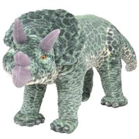 vidaXL Stående lekedinosaur triceratops grønn XXL