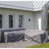 Madison Utendørs salongtrekksett 320x255x70 cm høyre grå