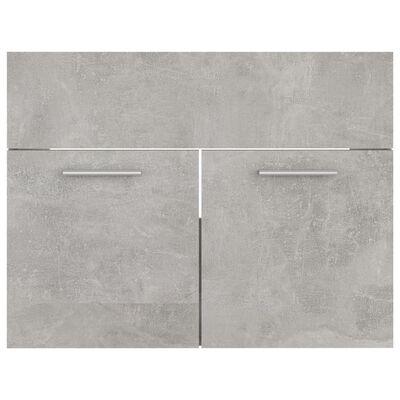 vidaXL Servantskap betonggrå 60x38,5x46 cm sponplate