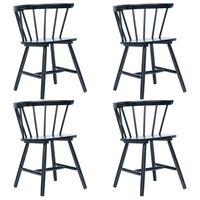 vidaXL Spisestoler 4 stk svart heltre gummitre