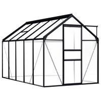 vidaXL Drivhus antrasitt aluminium 5,89 m²