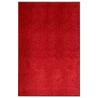 vidaXL Dørmatte vaskbar rød 120x180 cm