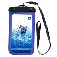 Vanntett mobilveske - universell størrelse - blå
