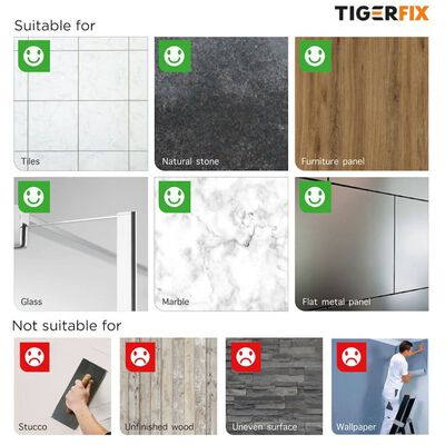 Tiger Monteringsmateriale Tigerfix Type 2 metall 398830046
