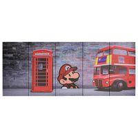 vidaXL Lerretsbilde London flerfarget 200x80 cm