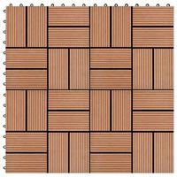 vidaXL Terrassebord 11 stk WPC 30x30 cm 1 kvm brun