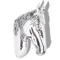 vidaXL Hestehode veggdekorasjon aluminium sølv