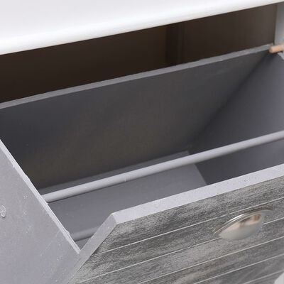 vidaXL Skoskap grå 50x28x98 cm keisertre