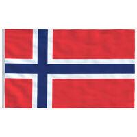 vidaXL Norsk flagg 90x150 cm