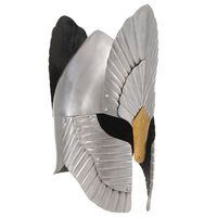 vidaXL Fantasi middelaldersk ridderhjelm replika LARP sølv stål