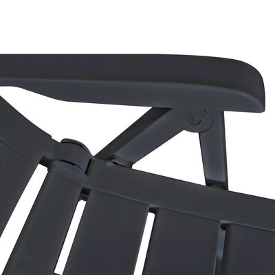 vidaXL Hagelenestoler 6 stk plast antrasitt