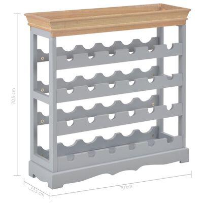 vidaXL Vinhylle grå 70x22,5x70,5 cm MDF