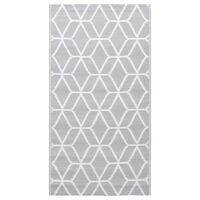 vidaXL Uteteppe grå 120x180 cm PP