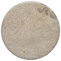 vidaXL Bordplate grå Ø60x2,5 cm marmor