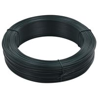 vidaXL Gjerdetråd 250 m 1,6/2,5 mm stål svartaktig grønn