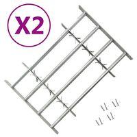 vidaXL Justerbare vindusgitter 2 stk 1000-1500 mm