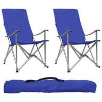 vidaXL Sammenleggbare campingstoler 2 stk blå