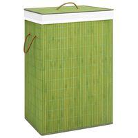 vidaXL Skittentøyskurv bambus grønn