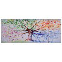 vidaXL Lerretsbilde tre regn flerfarget 150x60 cm