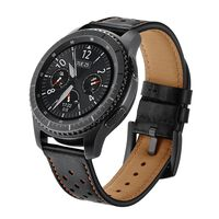 Armbånd Samsung Gear S3 Classic / S3 Frontier 22 mm skinn - svart