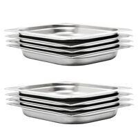 vidaXL Gastronormbeholdere 8 stk GN 1/2 40 mm rustfritt stål