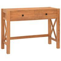 vidaXL Skrivebord med 2 skuffer 100x40x75 cm resirkulert teak