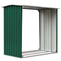 vidaXL Vedskjul galvanisert stål 172x91x154 cm grønn