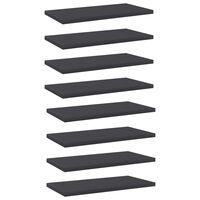 vidaXL Hylleplater 8 stk grå 40x20x1,5 cm sponplate