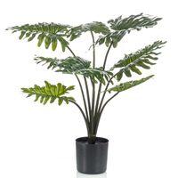 Emerald Kunstig plante Philodendron med potte 60 cm