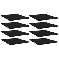 vidaXL Hylleplater 8 stk svart 40x50x1,5 cm sponplate