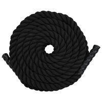 vidaXL Treningstau 9 m polyester svart