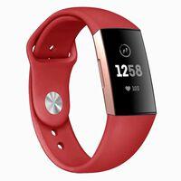 Fitbit Charge 3 armbånd silikon - rød - L.
