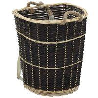 vidaXL Vedsekk med bærebelter 57x51x69 cm naturlig seljetre