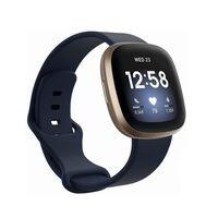Armbånd Fitbit Sense / Versa 3 Mørkeblå (S)
