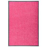 vidaXL Dørmatte vaskbar rosa 60x90 cm