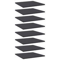 vidaXL Hylleplater 8 stk grå 40x40x1,5 cm sponplate
