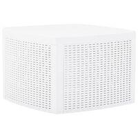 vidaXL Sidebord hvit 54x54x36,5 cm plast