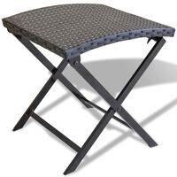 vidaXL Sammenleggbar stol polyrotting svart