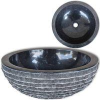 vidaXL Servant marmor 40 cm svart