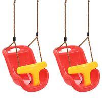 vidaXL Babyhusker 2 stk med sikkerhetsbelte PP rød